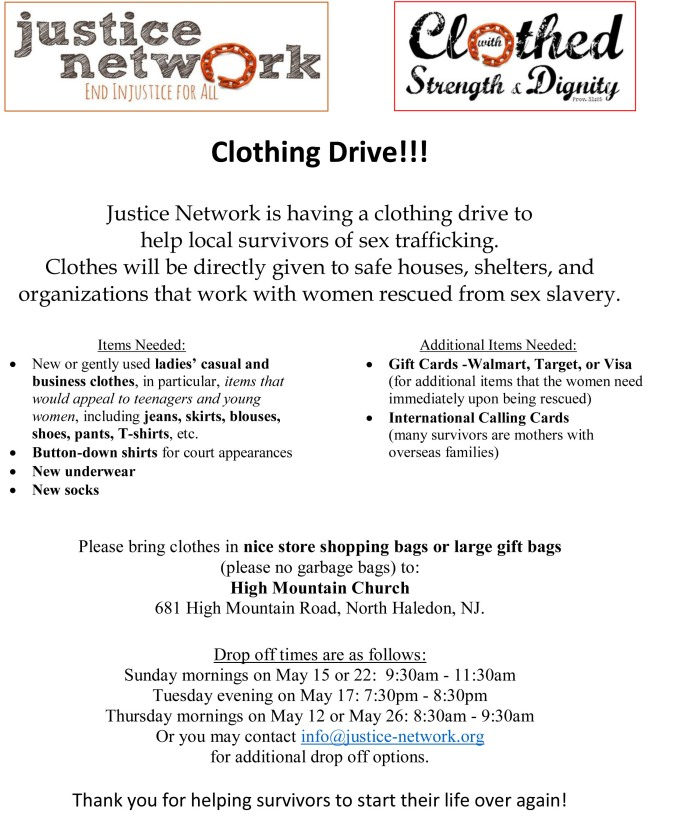 Clothing Drive Flyer- JN - May 2016
