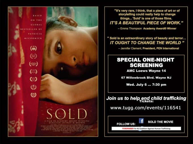SOLD Screening Flyer NJCAHT
