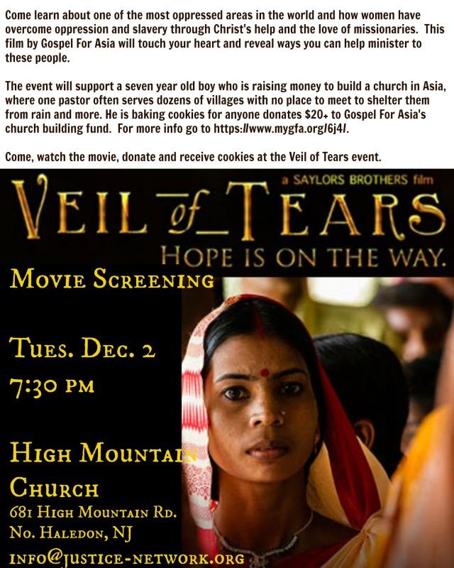 Veil Of Tears flyer
