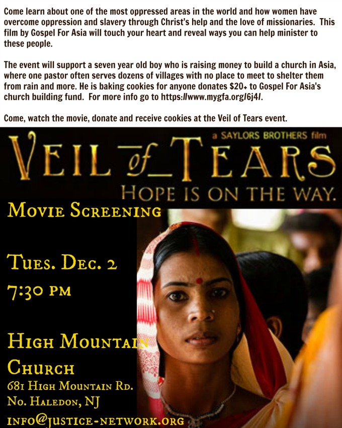 Veil Of Tears flyer