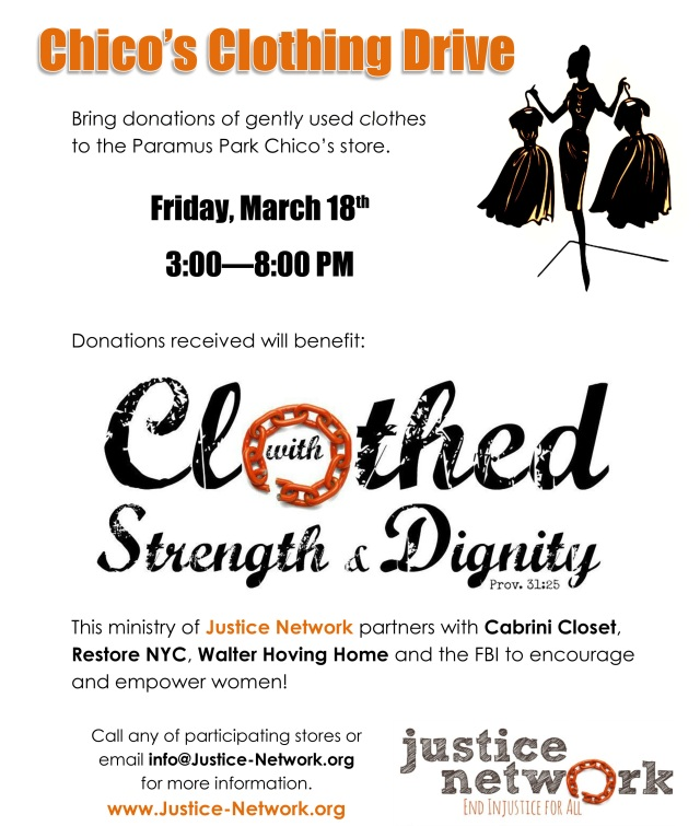 Microsoft Word - Chico's Clothing Drive - March 2016